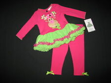 "NEW ""FUSHIA REINDEER"" Tutu Pants Girls Clothes 6m Winter Christmas Baby Outfit"