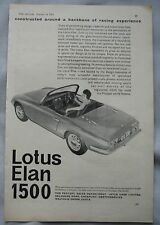 1962 Lotus Elan 1500 Original advert