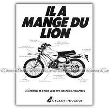 PUB PEUGEOT 50 TS ENDURO - Moped Ad / Publicité Cyclo de 1979 #1