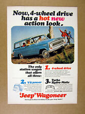 1965 Jeep Wagoneer blue jeep photo vintage print Ad