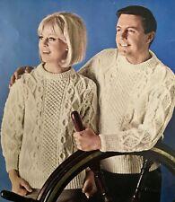 FM25c Knitting Pattern - Men's & Women's 3-ply Bainin Aran Jumper - Unisex