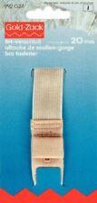 Gold- Zack BH-Verschluss 20 mm haut 3fach verstellbar