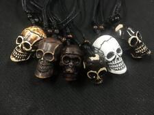 24pc Cool men's Mix tibet design skull rock skull head  pendant necklace  HS3005