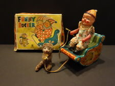 ALL ORIGINAL BANDAI FUNNY ROCKER CIRCUS TOY TIN & CELLULOID 1950 JAPAN