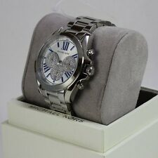 NEW AUTHENTIC MICHAEL KORS BRADSHAW CRYSTALS SILVER WOMEN'S MK6320 WATCH