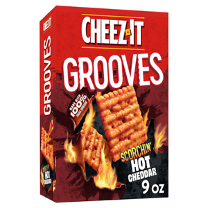 Cheez-It Grooves Scorchin Hot Cheddar 9oz