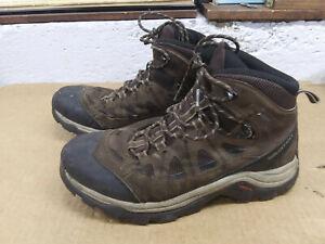 Salomon LTR GTX Mid Brown Ortholite Waterproof Hiking Boots Mens 8.5 - 9