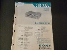 Original Service Manual Schaltplan Sony STR-333L