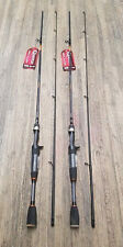 (2) QUANTUM HELLCAT 6'6 2PC MEDIUM HEAVY CASTING RODS (HCC662MH)