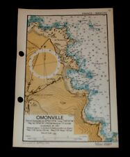 OMONVILLE, Invasion Planning of France, Rare WW2 Naval Military Map 1943