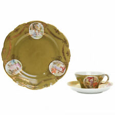 Porcelain Russia tea cup with tow saucers Decorative Arts Pretty Very Nice