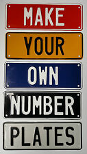 Customised Custom Made Aluminium Embossed Novelty Car Number Plates, Trailers