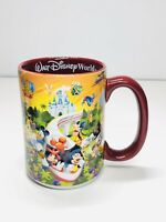 Walt Disney World Character Four Parks One World Coffee Mug Tea Cup - Red
