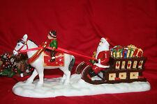 Nostalgic Village Villeroy & Boch  Santa mit Pferdeschlitten