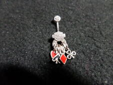 Harley Davidson Belly / Navel Ring - Sterling Silver/Marcasite - MUST SEE