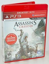 Sony PS3 Assassins Creed III 3 Video Game ignite revolution stealth ubisoft solo