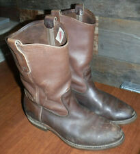 Vintage Red Wing Pecos Leather Men'S Boots Size 9 .5-10.5 Made In Usa L@K