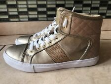 Guess Women's Ladies Trainers Ankle Shoes Gold Size US 7 Eu 37 UK 4.5
