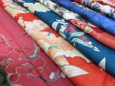 03aBCF#1085 Bundle Sale 10pcs Silk Vintage Fabric Japanese kimono