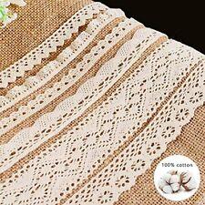 Vu100 33 Yards Crochet Cotton Lace Ribbon Trim, 6 Rolls Vintage Sewing Fabric