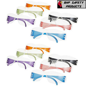 Intruder Multi-Color Safety Glasses - Clear Lens w/Assorted Temple Colors