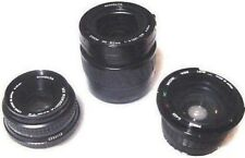 Set of 3 CAMERA LENSES MINOLTA Zoom 35-80mm,MD ROKKOR 45mm,PRIMA MACRO WIDE .42X