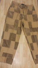 Rare Vintage Cerruci Men's Size 5Xl Faux Leather Suede Patched Lined Pants