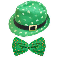 Irish Cappello Borsalino e Jumbo Shamrock PAPILLON S. Patrizio Costume Vestito