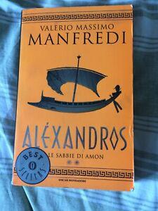 ALEXANDROS Le sabbie di Amon Valerio Massimo Manfredi Mondadori libro romanzo