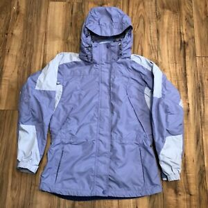 Columbia Womens Core Interchange Jacket (Shell Only) M Hood Purple Ski Snowboard