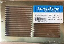 AMERIFLOW HART COOLEY - 10x6 SIDEWALL/CEILING RETURN AIR GRILL~ BRASS