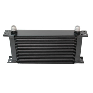 Cooling Pro Oil Cooler - 19 Row Heavy Weight Black -10 Outlets (285x135 Core Siz