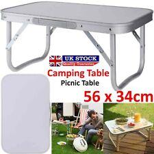 Aluminium Folding Portable Camping Picnic Kitchen Small Dining Table Bed Tray UK