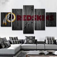 Washington Redskins Football 5 pcs Painting Printed Canvas Wall Art Home Decor