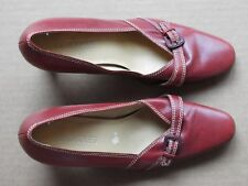 AEROSOLES WOMEN'S RED HIGH HEEL SHOES WITH BUCKLES, SIZE 6.5M