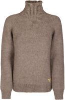 NWT Women's Tory Burch Raglan Turtleneck Sweater (Size Medium, Dark Oatmeal)