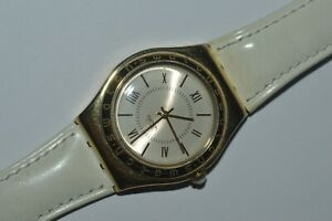 Swatch IRONY Medium Watch YLG109 MALAKO 1998 Swiss Ladies Stainless Steel 33 mm