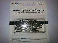 Waldom 745-5 Female Contact SolderType   for Circular Plastic Connectors 25 pcs.