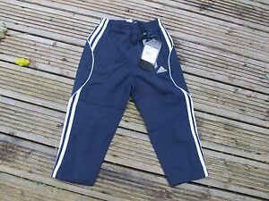 """568271 Adidas NIMENT Pant Jnr Track Bottoms Size 18"""" 4 YEARS OLD NAVY BLUE 3S"""