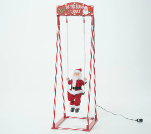 "Mr. Christmas 54"" Indoor/Outdoor Animated Swinging Santa. H221196"