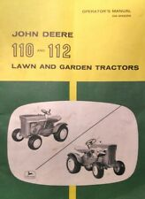 John Deere 110 112 Round Fender Garden Tractor Owners Manual 36pg 1963-1967 RARE