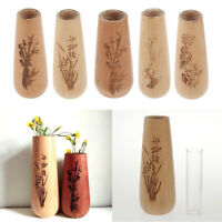 Wooden Vases European Wood Flower Living Room Bedroom Decorative Vase Decor