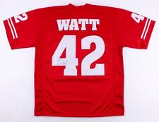 T. J. Watt Signed Wisconsin Badgers Jersey (JSA) Steelers #1 draft pick 2017