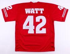 T. J. Watt Signed Wisconsin Badgers Jersey (Jsa) Steelers #1 draft pick 2017