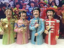 Toby jugs.The Beatles.Abbey road.sgt pepper.not Beatle bobble heads.LP.