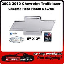 02-10 Chevy Trailblazer Chrome Bordered Aluminum Rear Hatch Bowtie AMI 96074C