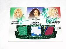 2012 Benchwarmer Soccer WWE Torrie WILSON Maria KANELLIS Shamrock Green Auto/10