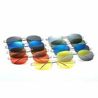 Rimless Polarized Sunglasses Flexible Light Weight Shades Mens Womens uv K488