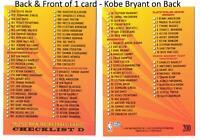 1996-97 SKYBOX NBA BASKETBALL CARDS CHECKLIST D KOBE BRYANT Card #200 - PERFECT