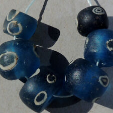 6 ancient islamic glass eye beads mali #50